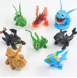 high puppets Australia - High Quality 8pcs set PVC How to Train Your Dragon Toothless Night Fury Action Figures For Child Best Gifts 5-7cm NOOM008