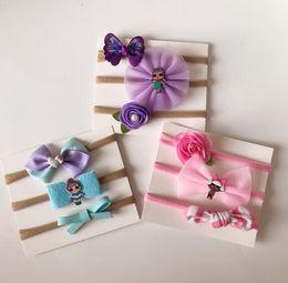 $enCountryForm.capitalKeyWord Australia - Baby Headband surprise cartoon Flower Bows Headbands Hair Accessories Hair Band Turban Girls Hairband 3pcs 1set LJJK1356