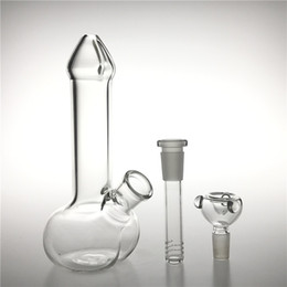 $enCountryForm.capitalKeyWord Australia - New 7 Inch Glass Water Bongs Water Pipes with Glass Downstem Diffuser Bowl Thick Pyrex Recycler Heady Glass Beaker Dildo Mini Bong