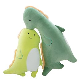soft toy couple Australia - Creative Cartoon Soft Couple Dinosaur Plush Toy Lovely Stuffed Doll Cute Sleeping Pillow Kids Birthday Gifts