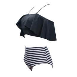 b260a4871b Off Shoulder Women Swimwear Ruffle Swimsuit Beach Wear Biquini Padded  Bathing Suit High Waist Brazilian Bikini Set 2019 New 3XL