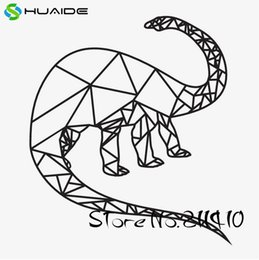 $enCountryForm.capitalKeyWord NZ - Geometric Brontosaurus Wall Stickers For Kids Room New Design Dinosaur Baby Wall Decals Custom Color Boys Gift Wall Art