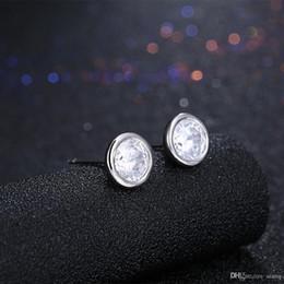 $enCountryForm.capitalKeyWord NZ - New Arrival 925 Sterling Silver Fashion Simple Design Round Earrings Zircon Silver Earrings For Women Earings Fashion Jewelry