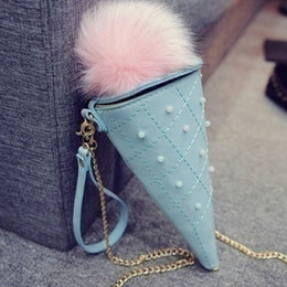 Color iCe bags online shopping - JHD Fashion Cute Ice Cream Cone Ladies Hand Bags Candy Color Woman Bags Mini Coin Bag Girl Tapered Crossbody Bag for phone