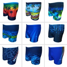 76baccd50971 iMaySon Mens New Style Fashionable Plus Size Printing Swimming Underwear  High-elastic Loose Brief Swimwear Lace Up Sports Shorts Swim Trunk