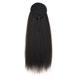 high hair buns 2019 - Women Synthetic Corn Bun Tied Clip In Headwear Wigs Ponytail High Puff Seamless Long Bubble Afro Hair Extensions Kinky S