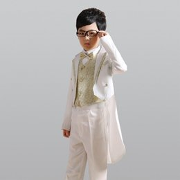 $enCountryForm.capitalKeyWord Australia - New Swallowtail Silver Gold (Jackets + Pants + Bow Tie + Shirt+Coat) Boy Costumes Slim Bridegroom Wedding Suit Jacket