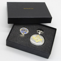 Freemasons Gifts Australia - Fashion & Casual Silver Masonic Freemason Freemasonry Theme Alloy Quartz Fob Pocket