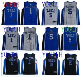 $enCountryForm.capitalKeyWord Australia - NCAA Youth 1 Zion Williamson Duke Blue Devils 5 RJ Barrett Black White College Kids Basketball Jerseys And T-SHIRT