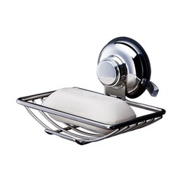stainless cup holders Australia - Bathroom Soap dish Holder Wall Hanging Stainless Steel soap holder Powerful Vacuum Suction Cup For Kitchen bathroom supplies -L