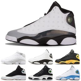 Cheap Plastic Cats Australia - Cheap 13 13s Mens Basketball Shoes Italy Blue melo class of 2003 Pure Money Black Cat bred Flint sports sneakers size 7-13