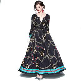 2af14370450a0f ... Tropfenverschiffen auf Lager Neue beiläufige Damen der Art und Weise  kleidet Frauendame-Frühlingssommer-Fantasie langes schwarzes Maxikleid