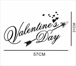 Best Bedroom Wall Stickers NZ - 2019 Special Best-Selling Foreign Trade New Valentines Day Valentine's Day LOVE Creative Carved Wall Stickers Decoration Painting KS189