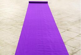 Fabric Decorations For Parties Australia - New Arrival Wedding Favors Purple Nonwoven Fabric Carpet Aisle Runner For Wedding Party Decoration Supplies Shooting Props free shipping