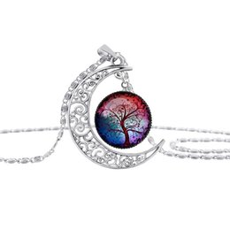 $enCountryForm.capitalKeyWord Australia - 8 models tree of life moon time gem necklace plant Cabochon pendant jewelry for women girls Christmas gift for girl