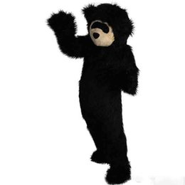 $enCountryForm.capitalKeyWord UK - New high quality Long hair black bear Mascot costumes for adults circus christmas Halloween Outfit Fancy Dress Suit Free Shipping