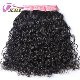 16 22 inch weaves style Australia - xblhair brazilian hair weave bundles virgin water wave human hair bundles within others hot selling hair style