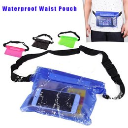 Underwater case for cellphones online shopping - Universal Waist Pack Waterproof Pouch Case Water Proof Dry Bag Underwater Pocket Cover For Cellphone mobile phone Samsung iphone money