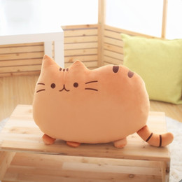 cat cushion for kids Australia - Kawaii Cats Plush Cushion Cute Animal Catty Plush Toy Dolls for Kids Home Decor 66CY