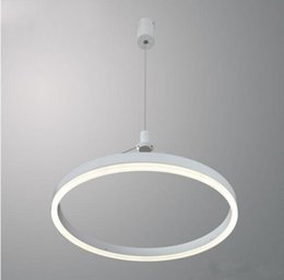 hanging circle lights Australia - Modern Hanging Lamp Living Room Bedroom Dining Room Kitchen Circle LED Pendant Light MYY
