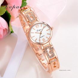 $enCountryForm.capitalKeyWord Australia - Women Fashion Watches Luxury Rose Gold Bracelet Diamond Business Wristwatch Women Dress Fashion Casual Sport Quartz Watch