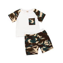 military camouflage clothing NZ - Camouflage Clothes For Boys 2019 Newest Baby Kids Boy Girl Short Sleev T-shirt Summer Tops+Pants Cotton Outfits Set Clothes 1-6T