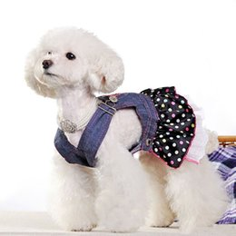 princess dog shirt UK - Pet Dog Clothes Dress Cat Strap Small Dogs Princess Dress Cute Lace Skirt Dot Puppy Apparels Size XS S M L XL Dog Apparel
