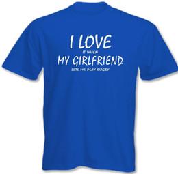 Venta al por mayor de I Love My Girlfriend - Rugby ~ Camiseta divertida para hombre 3XL 4XL 5XL