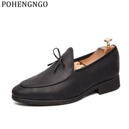 $enCountryForm.capitalKeyWord NZ - New Italian Men's Dress Shoes Tassel Soft Sole Slippers Party Casual Flats Oxfords Wedding bow bow massage shoes for gentlemen