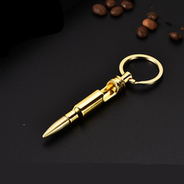 $enCountryForm.capitalKeyWord NZ - Bullet Bottle Openers Zinc Alloy Key Ring Pendant Bullet Model Beer Bottle Opener Keychains Bar Gadget Metal Kitchen Tools T2I5253