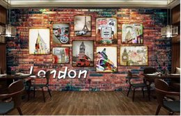 london home decor UK - 3d wallpaper custom photo mural Industrial style retro red brick wall London bar home decor 3d wall murals wallpaper for living room