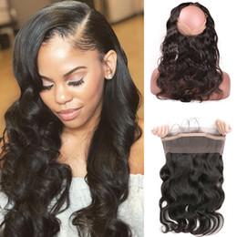 $enCountryForm.capitalKeyWord Australia - 360 Lace Frontal Closure peruvian body wave closure Human Hair Closure Three Middle Free Part Remy Hair Extension 10-22 Inch Beyo