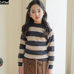 $enCountryForm.capitalKeyWord Australia - Cultiseed Big Children Girl Korean Knitted Sweater Tops Girls Korean Long Sleeve Casual Sweaters Kids Autumn Winter Sweaters