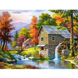 $enCountryForm.capitalKeyWord Australia - Diamond Embroidery Landscape Handmade Diamond Painting Village Needlework Mosaic Cross Stitch Home Decor