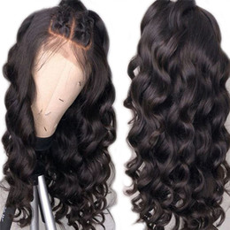 $enCountryForm.capitalKeyWord NZ - Good Quality Style Virgin Human Hair Lace Front Wigs Loose Wave Full Lace Wig Natural Color Hot Retail