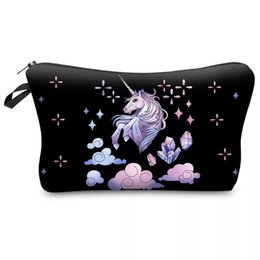 $enCountryForm.capitalKeyWord Australia - 3D Unicorn Printing Makeup Bags With Multicolor Pattern Cute Cosmetics Cases Pouchs For Travel Ladies Women Beauty Toiletry