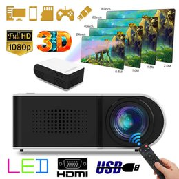 Wholesale 7000LM LED P HD Mini Projector tereo Lossless Audio Speaker Video Cinema Theater Multimedia Player Projection Machine