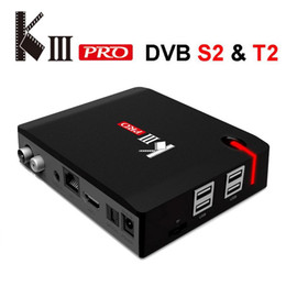 Discount android tv box dvb t2 Mecool KIII Pro Android TV Box DVB S2 T2 Smart Mini PC Supports MPLP 3G 16G Amlogic S912 Octa Core 2.4G 5.0G AC Wifi Blu