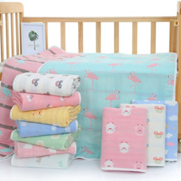 baby blankets knit patterns UK - Six-layer pure cotton and baby towel quilt baby gauze child quilt six-layer Jacquard towel jacquard blanket 110*110