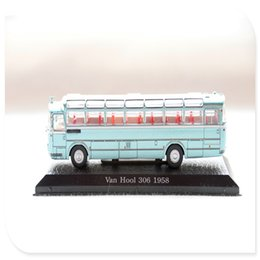 vintage cars toys 2019 - 1 72 Simulation Retro European Bus Van Hool 306-1958 Alloy Die-cast Classic Vintage Bus Toy Collection Display Model che