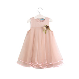 $enCountryForm.capitalKeyWord UK - New girl dresses cute a-line baby children clothes sleeveless princess jumper dress + Brooch hot cotton wedding dress
