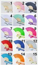 $enCountryForm.capitalKeyWord NZ - 10pcs Personalized Luxurious Silk Fold hand Fan in Elegant Laser-Cut Gift Box +Party Favors Wedding Gifts
