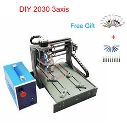 Máquina fresadora CNC 3axis Mini 200 * 300 área de trabajo enrutador cnc con husillo 300 W para carpintería en venta