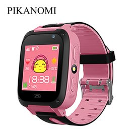 Gps Tracker Voice Monitoring Australia - SOS Smart Watch GPS Children Smart Watches Support Remote Monitor Voice Chat Kids Tracker Wrist Watch For IOS Android Smartphone