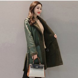Parka Leather Sleeves Women Australia - Faux Leather Two Side Wear Jackets 2019 Winter New Women Lamb Fur Patchwork Coats Warm Slim Rivet Fashion Thicken Parkas Yp1210