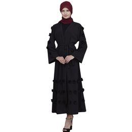 Hijab Red Long Dress Australia - Muslim Dress Women Abaya Dubai White Yellow Green Black Red Blue Long Robe Tunic Kimono Jubah Kaftan Hijab Islamic Clothing#M6Y