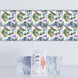 Oil Stick Art Australia - DIY Personalized Creative Self-adhesive Anti-Oil PVC Wall Sticker Tiles Stickers Bathroom Kitchen Art Decal Living Room Home Decoration