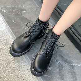 $enCountryForm.capitalKeyWord Australia - Popular Martin Booties for Women Winter Fashion Trend Vintage Classic Style Durable Black Ankle Boots Girls Ladies Like Vogue Casual Shoes