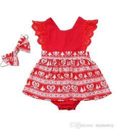 $enCountryForm.capitalKeyWord Australia - Cute baby Girls Cartoon Christmas bow tie Kazakhstan Suit sleeves 100% Cotton Red Color Tolders T-shirts