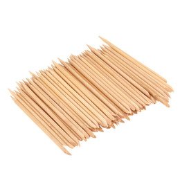 Wooden sticks online shopping - 50 X Nail Art Orange Wood Sticks Cuticle Pusher Remover Wooden Nail Push Nail Art Beauty Tools Accessories